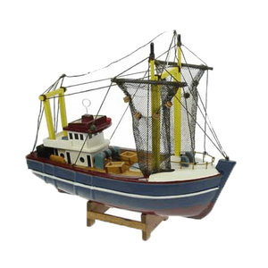 Typisch Hollands Fishing boat (cutter) with nets 24 cm