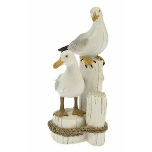 Typisch Hollands Seagulls set on posts 17 cm