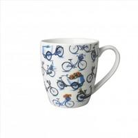 Typisch Hollands Kleine mok - Modern Delfts blauw - Fiets all over print