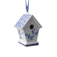 Typisch Hollands Weihnachtsanhänger - Vogelhaus - Delfter Blau