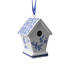 Heinen Delftware Kersthanger - Vogelhuisje - Delfts blauw