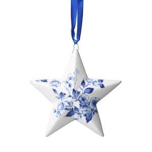 Heinen Delftware Christmas pendant - Holland - Delft blue poinsettia
