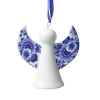 Typisch Hollands Engel Weihnachtsanhänger - Delfter Blau