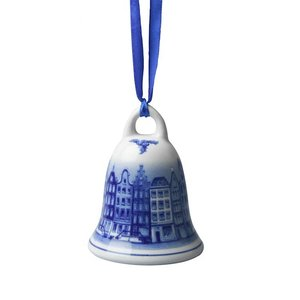 Typisch Hollands Christmas bell facade houses - Delft blue