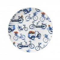 Typisch Hollands Bord fietsen 26.5 cm - Modern Delfts blauw
