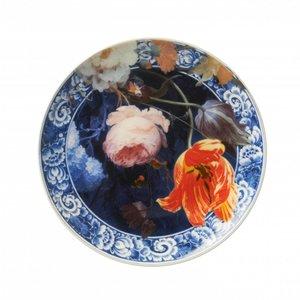 Typisch Hollands Plate flowers 20 cm in the Golden Age
