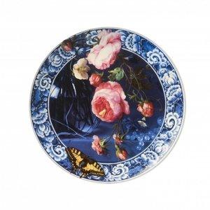 Typisch Hollands Wandbord bloemen in de Gouden eeuw 26.5 cm