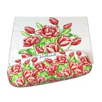 Typisch Hollands Brillenetui Tulpen rot mit Brillenputztuch
