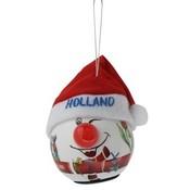 Typisch Hollands Kerstbal - Sneeuwman met LED lampje (neus)