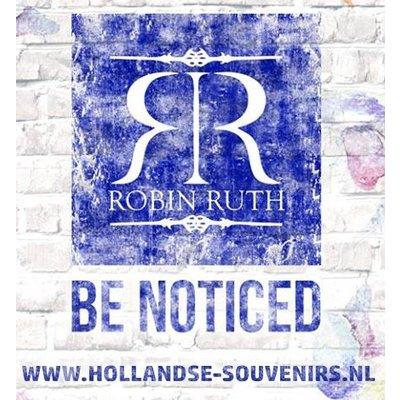 Robin Ruth Fashion Stropdas - Holland - Molens - Tulpjes donkerblaue