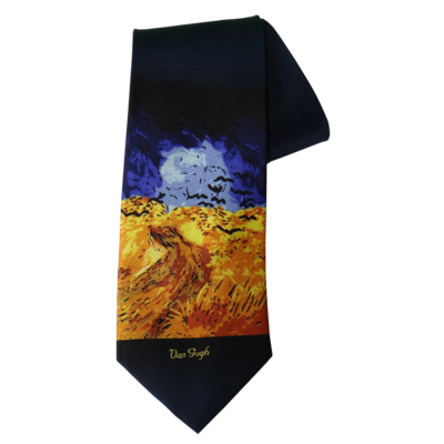 Robin Ruth Tie - Vincent van Gogh - blue