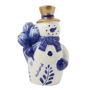 Typisch Hollands Holland - Snowman - blue gold 16 cm