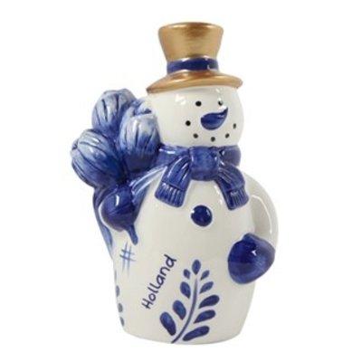 Typisch Hollands Holland - Snowman - blue gold 16 cm