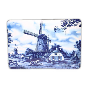 Typisch Hollands Traditional place mat - Windmill in Delft blue