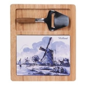 Typisch Hollands Cheese board (Delft blue with mini slicer - Hollandse Molen