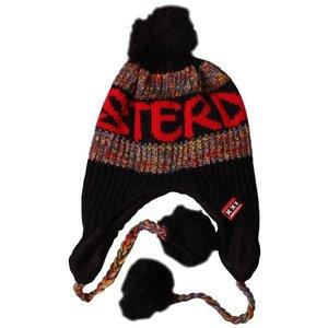 Typisch Hollands Amsterdam - Flap cap with balls - Black-Red-Melee