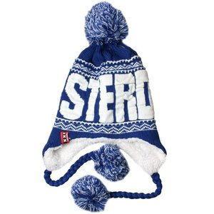 Typisch Hollands Amsterdam - Flap hat with balls - Blue-White