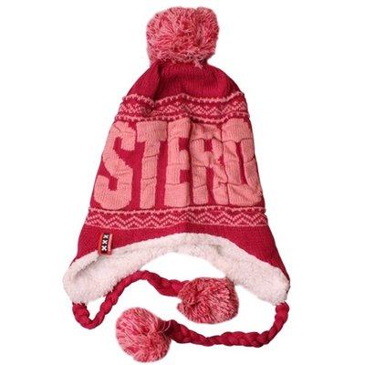 Typisch Hollands Amsterdam Fashion - Flap cap with balls - Fuchsia-Pink