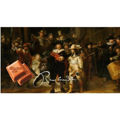 Typisch Hollands Chocolate bar - Dutch masters the Night Watch - Rembrandt van Rijn