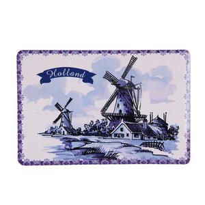 Typisch Hollands Placemat traditioneel - Molen Holland (Blauw-wit)