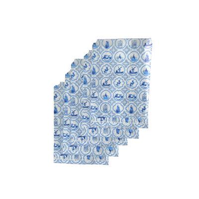 Typisch Hollands Delfts blauwe cadeauzakjes 13x18 cm