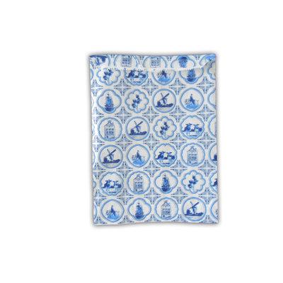 Typisch Hollands Delfts blauwe cadeauzakjes 10x13 cm