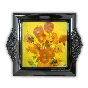 Typisch Hollands Dienblad van Gogh zonnebloem 23 cm