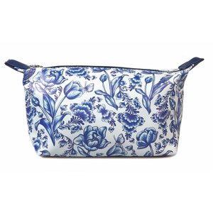 Typisch Hollands Toiletry bag - Delft blue bird and flower motif