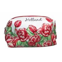 Typisch Hollands Kulturbeutel - Rot - Tulpendekoration