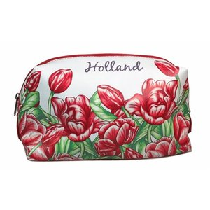 Typisch Hollands Toiletry bag - Red - Tulip decoration