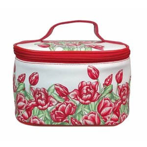 Typisch Hollands Beautycase- Rood Tulpendecor