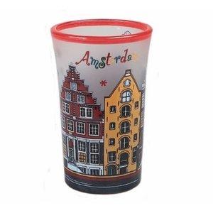 Typisch Hollands Shotglas - Amsterdam Gekleurd