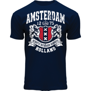 FOX Originals T-Shirt- Amsterdam  - Holland -Donkerblauw