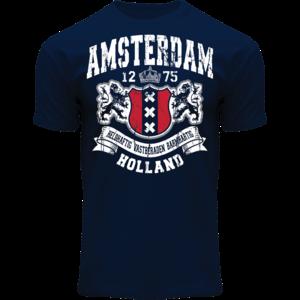 Holland fashion T-Shirt- Amsterdam  - Holland -Donkerblauw