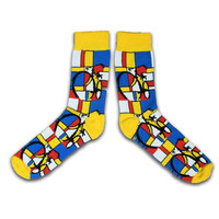 Typisch Hollands Mondriaan Herrensocken - (Kunstsammlung)