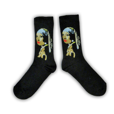 Holland sokken Vermeer`s (girl with the pearl) Women's socks - (Art collection)