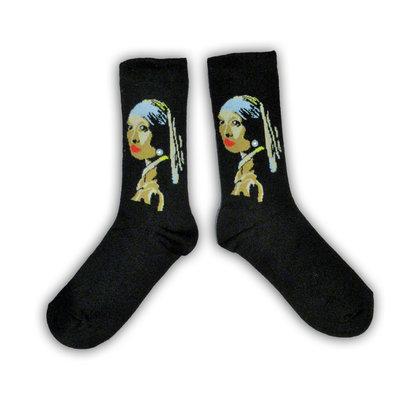 Holland sokken Vermeer`s (meisje met de parel)  Damessokken - ( Art collection)