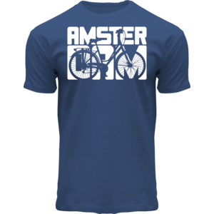 FOX Originals T-Shirt Blau - Fahrradstadt Amsterdam