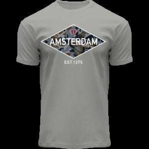 Holland fashion T-Shirt Amsterdam - Est1275 (Camo-Diamond)