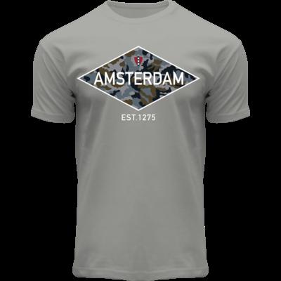 FOX Originals T-Shirt Amsterdam - Est1275 (Tarn-Diamant)