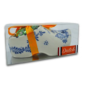 Typisch Hollands Large souvenir clog 18 cm with orange ribbon