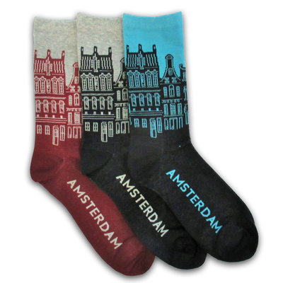 Holland sokken Rabatt-Set - Herrensocken - Fassadenhäuser Amsterdam
