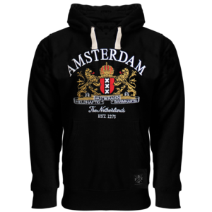 FOX Originals Hoodie - Amsterdam - Black - Amsterdam Coat of Arms