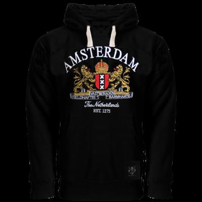 Hoodie Amsterdam Schwarz Amsterdam Wappen