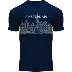 FOX Originals T-Shirt Amsterdam Canal Front -  Donkerblauw