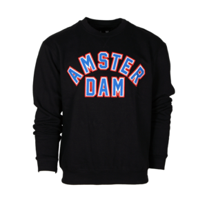 Holland fashion Sweater Round neck - Mike (Black) Patch Amsterdam