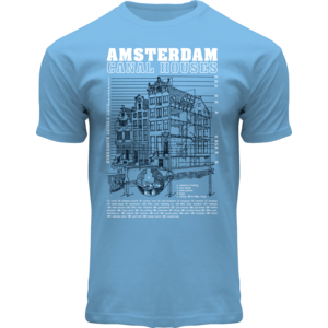 FOX Originals T-Shirt - Amsterdam Graphic photo - Canal-Houses of Amsterdam
