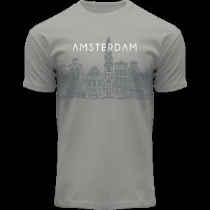 FOX Originals T-Shirt - Amsterdam Grafik - Grachtenhäuser von Amsterdam