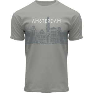 FOX Originals T-Shirt - Amsterdam Graphic art - Canal-Houses of Amsterdam