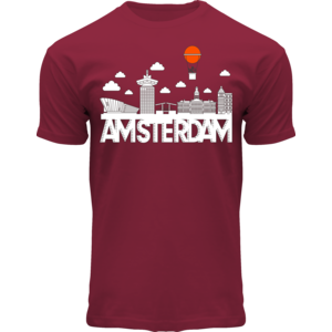 Holland fashion T-Shirt Amsterdam - Skyline - Modern